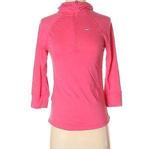 NIKE Dry Fit Pink Half Zip Hoodie Track Jacket S